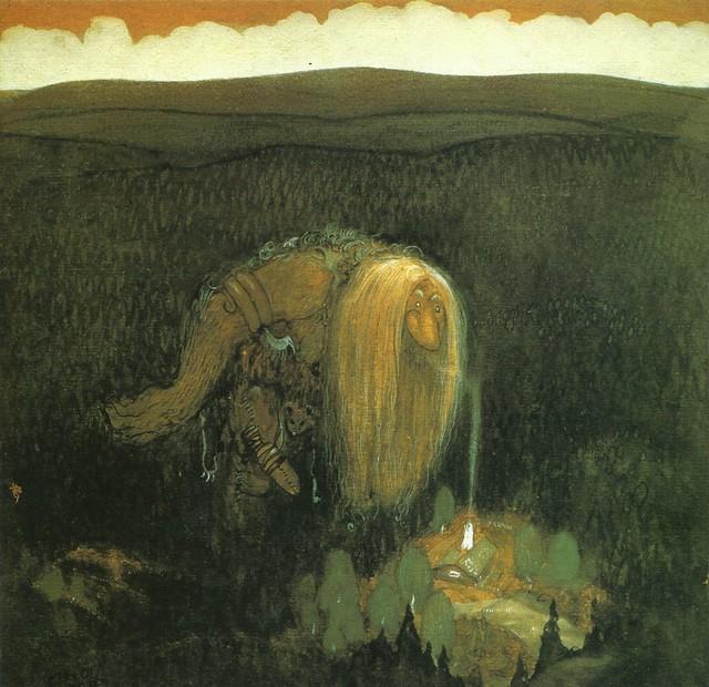 John Bauer - A Forest Troll, 1913