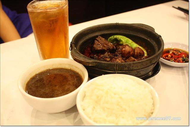Rou Ku Cha King @ Queensbay - Rice Set - Rou Ku Cha (Dry) with Rice & Chinese Tea