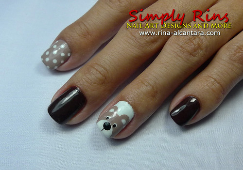Nail Art Teddy Bear 02