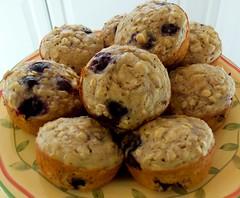 oatmeal blueberry orange muffins