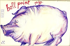 pig (Tazab) Tags: moleskine animal pig drawing picture sketchbook dessin crayon cochon croquis carnet crayondecouleur colleurpencil