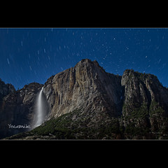 Startrails over Upper Yosemite fall - CA (Dominique Palombieri) Tags: california usa rock night stars landscape waterfall nationalpark flickr fav50 fav20 yosemite dominique np fav30 startrails 400iso 32mm 2011 fav10 fav40 fav60 canoneos7d palombieri lensef24105mmf4lisusm 6530secatf63