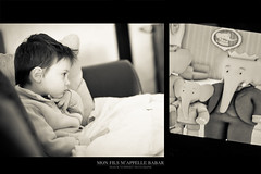 Mon fils m'appelle Babar (Franck Tourneret) Tags: 50mm tv nikon child watch animation enfant babar regarder badou d700