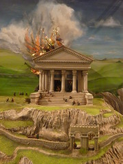 Boudicca vs the Temple of Claudius ( Claire ) Tags: castle museum temple fire roman norman empire keep claudia colonia celtic celt essex colchester romans trinovantes normans boudicca celts claudius boudicea colchestercastle iceni caratacus camulodunum camulodunon catuvellauni templeofclaudius prasutagus cunobelinus victricensis coloniaclaudiavictricensis togodumnus celticrevenge