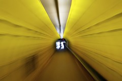 tunnel vision [explored] (ash) Tags: travel blue sea yellow lost tv zoom tube tunnel down adventure sweetwater