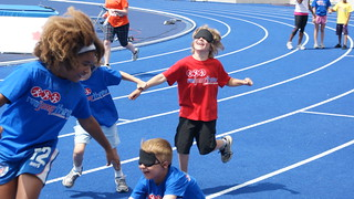the blind fold relay!