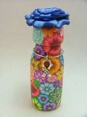 Colorful Millefiori Floral Bottle of Hope