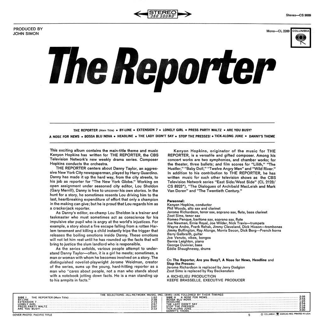Kenyon Hopkins - The Reporter