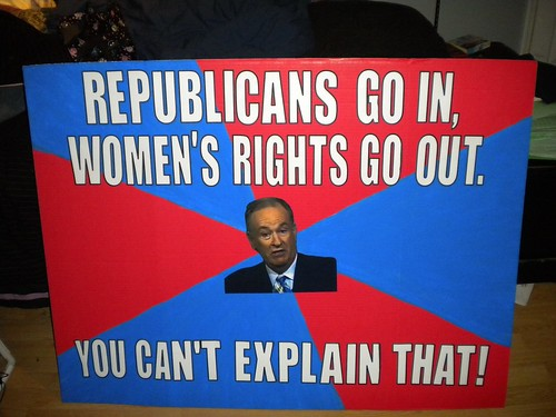 My sign - the Bill O'Reilly You Can't Explain That Meme