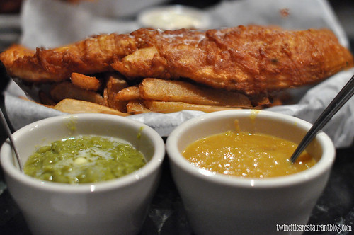 Fish & Chips with Mushy Peas at The Anchor Fish & Chips ~ Minneapolis, MN