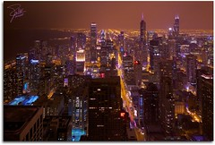 The city never sleeps (Frank Kehren) Tags: panorama chicago skyline night skyscraper canon illinois searstower lakemichigan observatory 24 trumptower michiganavenue f11 johnhancockcenter magnificentmile aoncenter canoneos5dmarkii willistower tse24mmf35lii twoprudentialplaca