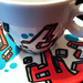 Graphic Cup & Saucer