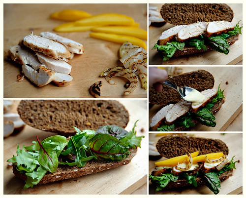 Grilled Chicken & Curried Mango Sandwich