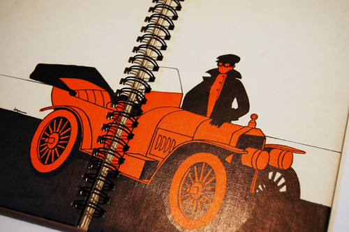 Orange car notebook
