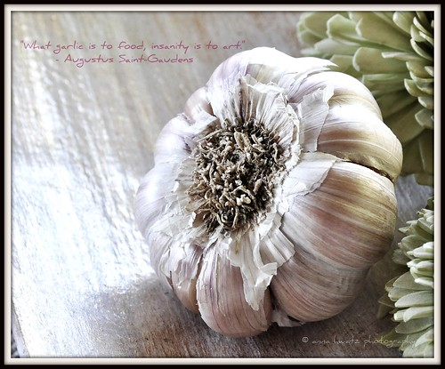 """What garlic is to food, insanity is to art"""
