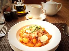 Crabmeat Gnocchi (Chez C. - buzy) Tags: food pen yummy italian olympus pasta meal gnocchi crabmeat foodtography f3556 1442mm epl2