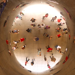 The World according to Cloud Gate (kevin dooley) Tags: world favorite cloud chicago glass canon wow circle photography eos 50mm mirror photo interesting fantastic globe gate stainlesssteel flickr downtown artist image very good awesome 14 picture free award superior pic super bean best lookingup more most reflect sp photograph round creativecommons winner excellent reflective much curve curved cloudgate kapoor incredible thebean anishkapoor anish better circular exciting winning installed nonlinear stockphotography phenomenal freeforuse 40d beanshaped worldaccordingto