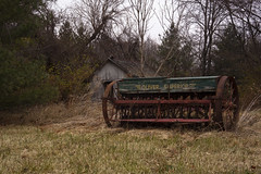 Oliver Superior (indigorock) Tags: fall barns farms farmmachinery