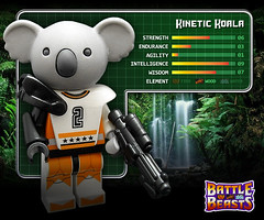 Kinetic Koala (Morgan190) Tags: original toy toys lego battle 80s koala series minifig collectible custom 1980 beasts hasbro m19 minifigure battlebeasts iwako brickarms brickforge morgan19