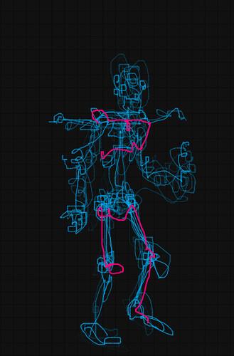 robot doodle or doodle robot by blackaller