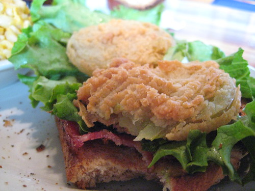 Fried Green Tomato BLT at Tubby's Tank House