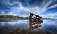 Peter Iredale Shipwreck HDR (Fresnatic) Tags: sky beach clouds oregon sand skies pacificocean astoria pacificnorthwest oregoncoast storms shipwrecks hdr peteriredale cloudscapes lightroom warrenton photomatix leftcoast peteriredaleshipwreck perfectsunsetssunrisesandskys hdraddicted canonrebelxsi fresnatic photoshopcs5