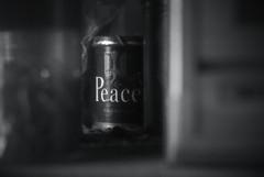 Peace (jam343) Tags: monochrome 50mm peace cigarette can jt tobacco ピース