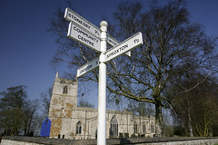 THE SIGN ON THE WOLDS (Adam Swaine) Tags: county uk blue england sky english church beautiful rural canon landscape countryside wooden village britain villages east roadsigns 24mm counties broads naturelovers villagechurch lincs villagesigns thisphotorocks broadbritain villagenames adamswaine mostbeautifulpicturesmbppictures wwwadamswainecouk