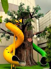 Children playground @IMM roof garden (linkway88) Tags: tree green water fruits playground garden singapore slide imm childrenplayground linkway88 fruits01022011a immroofgarden