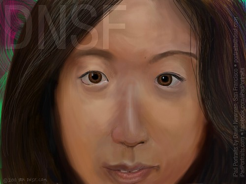 iPad Portrait of Samantha Ang in Line for the iPad 2 by DNSF David Newman
