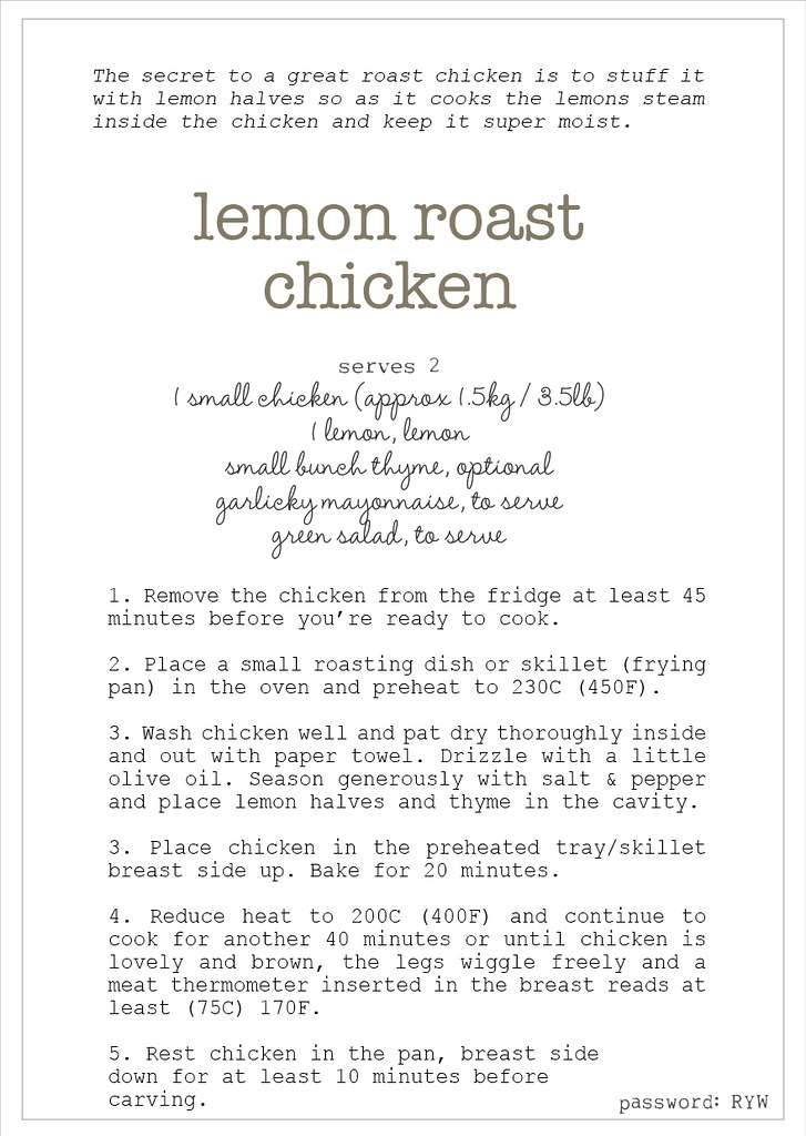w4 simple roast chook recipe
