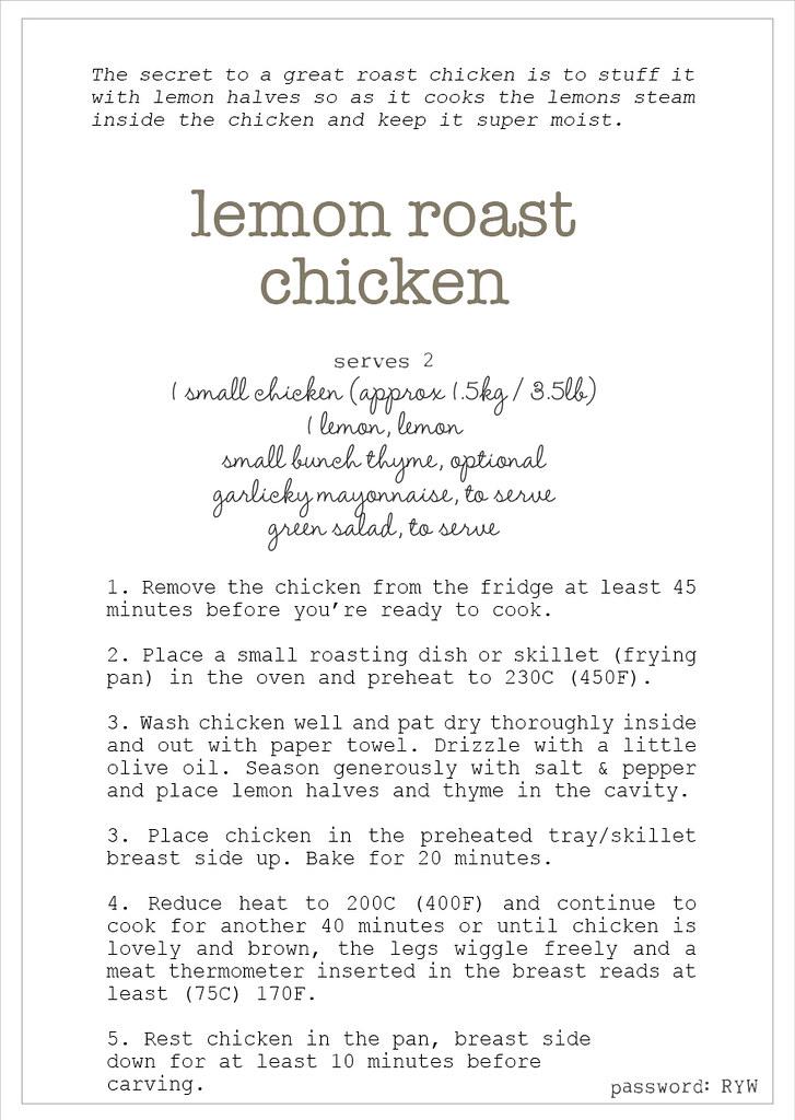 w4 simple roast chook recipe