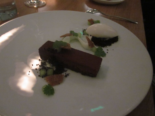Commis - Oakland - January 2011 - Chocolate Gianduja, Green Apple, Hazelnut, Absinthe Ice Cream