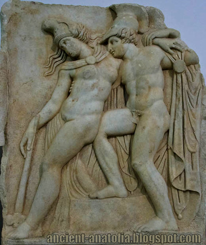 Achilles ve yaralı Amazon Kraliçesi Penthesilea, Afrodisyas Arkeoloji Müzesi