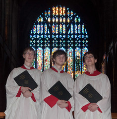 Choral Scholars before the West Window (cathedralchoir) Tags: w777 choralscholars