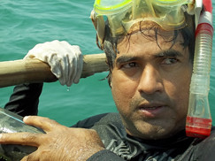 Scuba Diver Sabir Bux discovered vessel in Konark, Puri