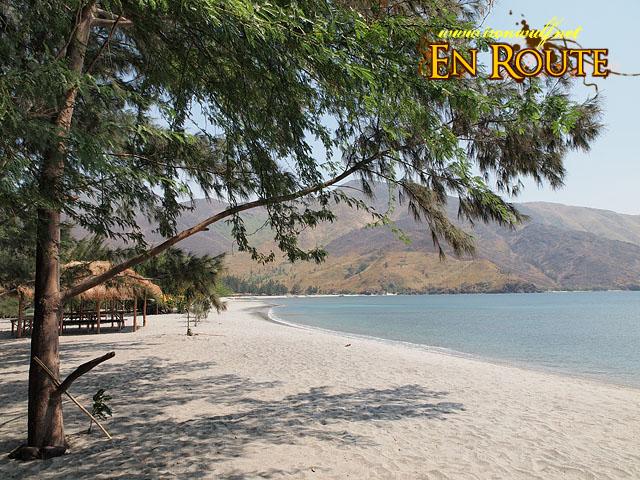 The beautiful stretch of white sand beach at Nagsasa Cove
