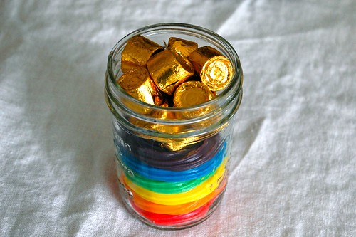 rainbows filled with gold