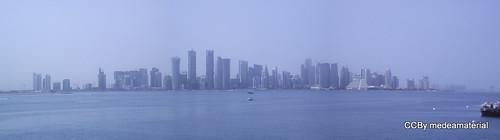 panorámica del skyline en Doha