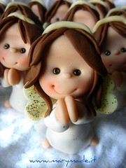 close up - angel (marytempesta) Tags: angelfigurines weddingcaketoppers polymerclayangels polymerclayweddingcaketoppers