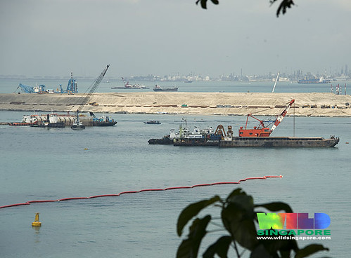 Massive reclamation for Pasir Panjang Container Terminal off Labrador