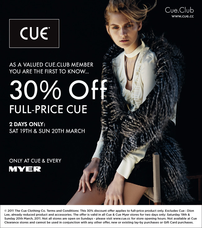 Cue-W11-Cue-Club-Myer-Press-30-OFF-Offer-AU