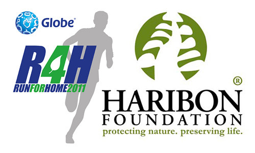 Globe Run for Home and Haribon Foundation logos