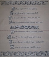 LotR Poem (danie7) Tags: design poem cross stitch quote sewing lord lotr rings danie7