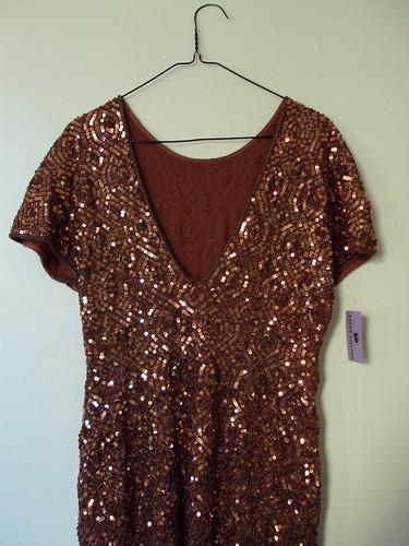 Bronze Vintage Sequin Dress (back)