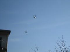 20110318 編隊飛行する二機のCH-47型機