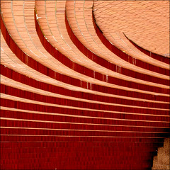 (Laura Galley) Tags: city red urban abstract lines architecture stairs mediumformat design searchthebest bricks curves steps squareformat absoluterouge selectbestfavorites selectbestexcellence lauragalley sbfmasterpiece sbfgrandmaster