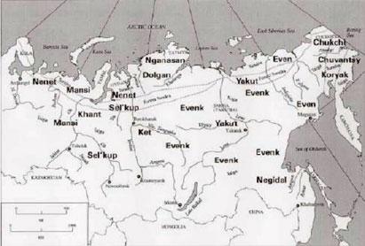 Map Yakutia, Russia