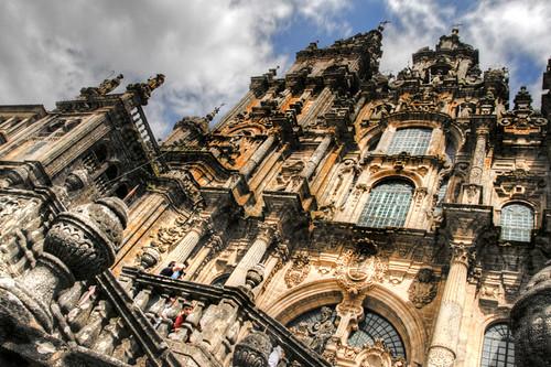 Cathedral facade. Santiago de Compostela. Fachada de la catedral