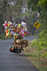 On the road in Cambodia (Keith Kelly) Tags: wood red house bicycle balloons religious construction model cambodia southeastasia cambodian khmer display spirit buddhist ghost capital honor bamboo clothes holy elf ancestor transportation baskets figure sacred offering phnompenh mystical kh cloth figurine creature wicker legend mythology ontheroad superstition displayed revere myth pedal statuette superstitious brooms garments elves spirithouse supernatural alms folktale kampuchea houseelf revered khmae merengkungveal merenangkengveal merangkungveal mringkungveal childspirit mriengkongveal